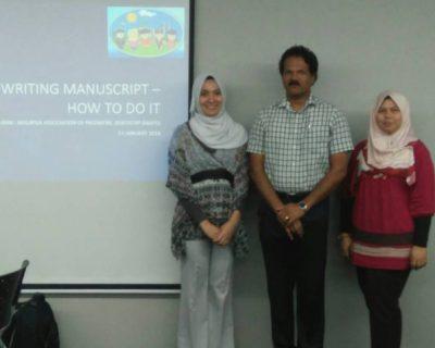 MAPD Writing Manuscript Workshop 2018