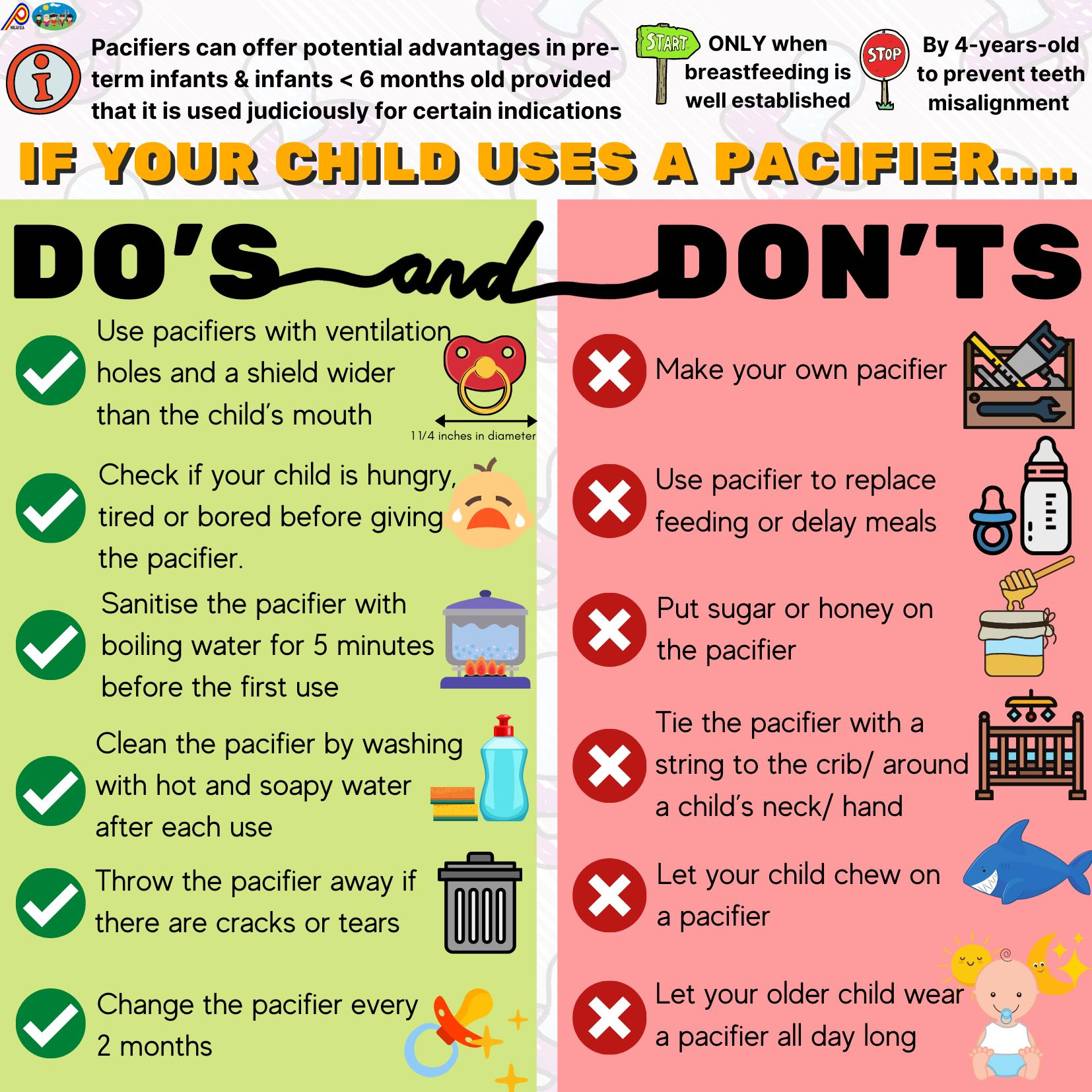 If your child uses a pacifier…